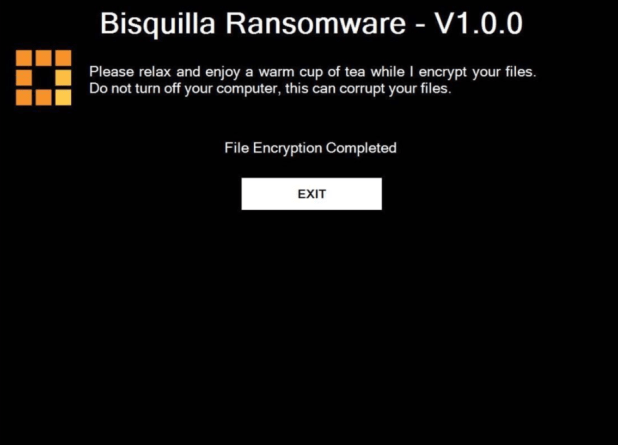 V1.0.0 Bisquilla ransomware