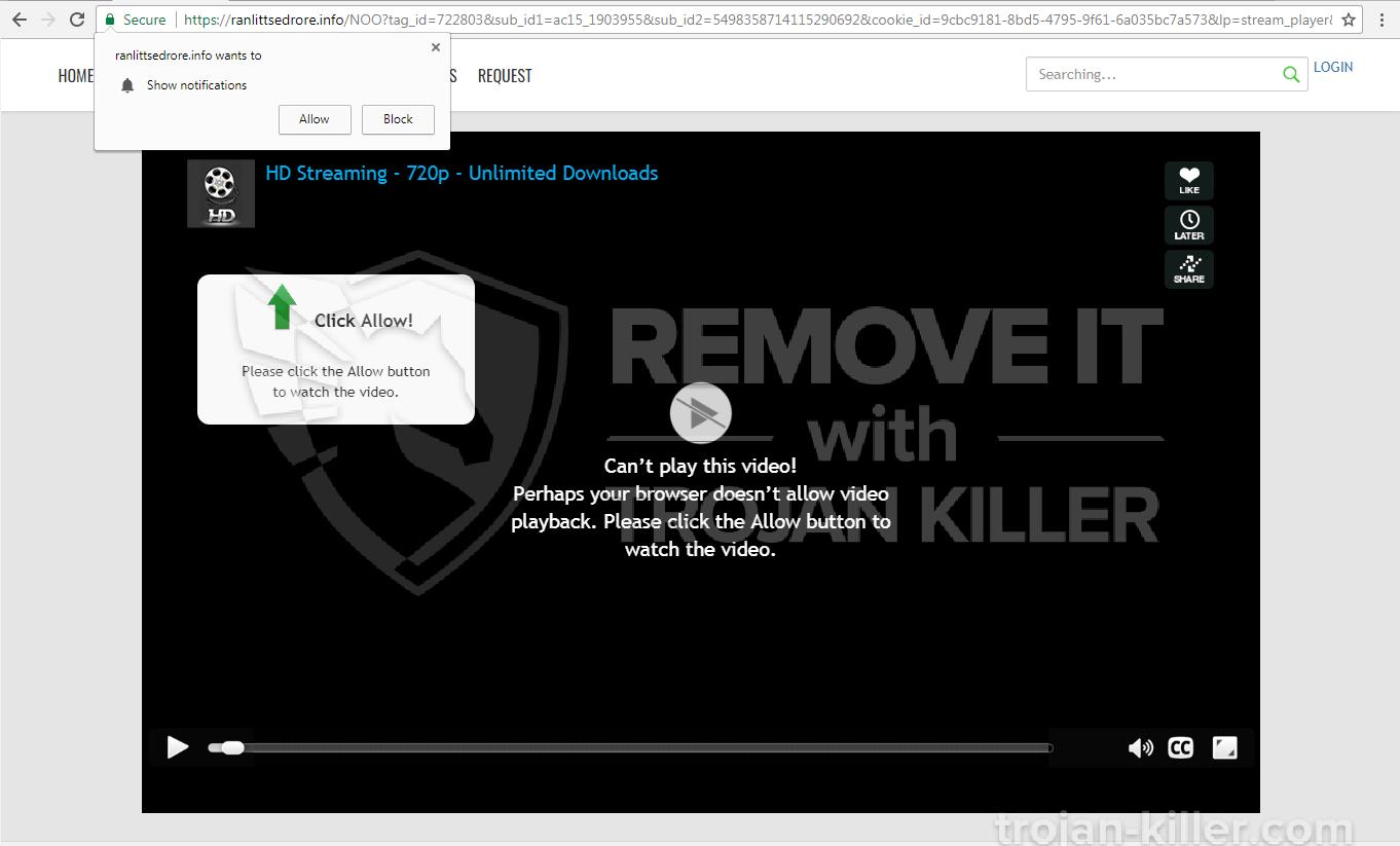 Ranlittsedrore.info virus