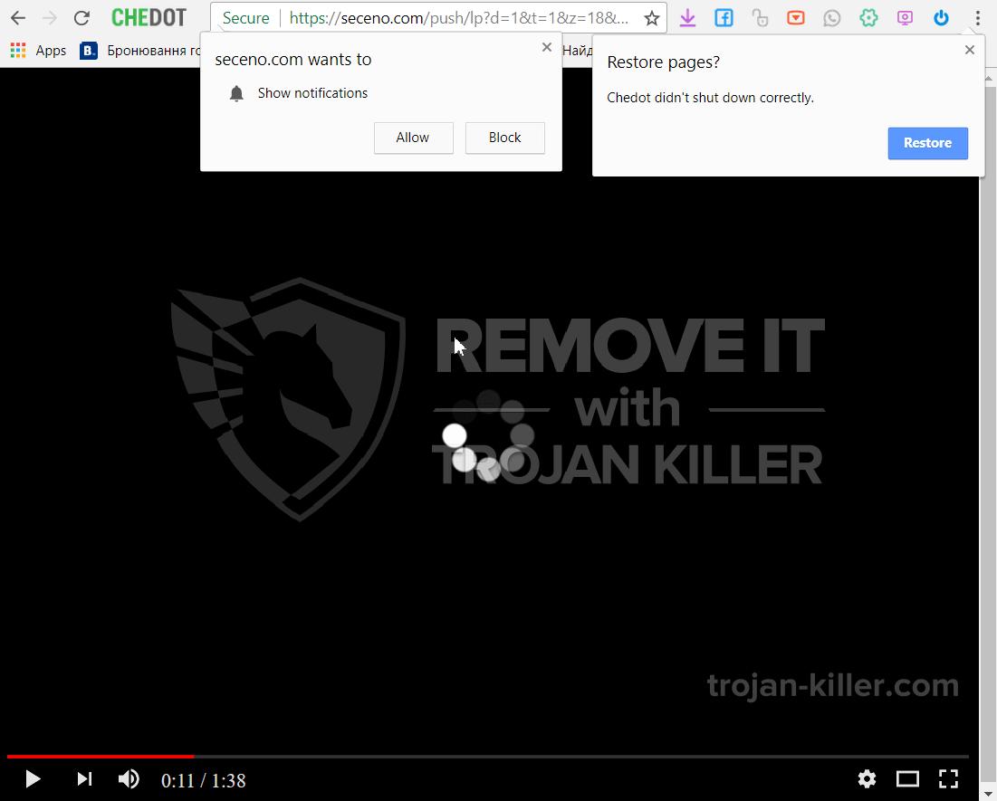 Seceno.com virus