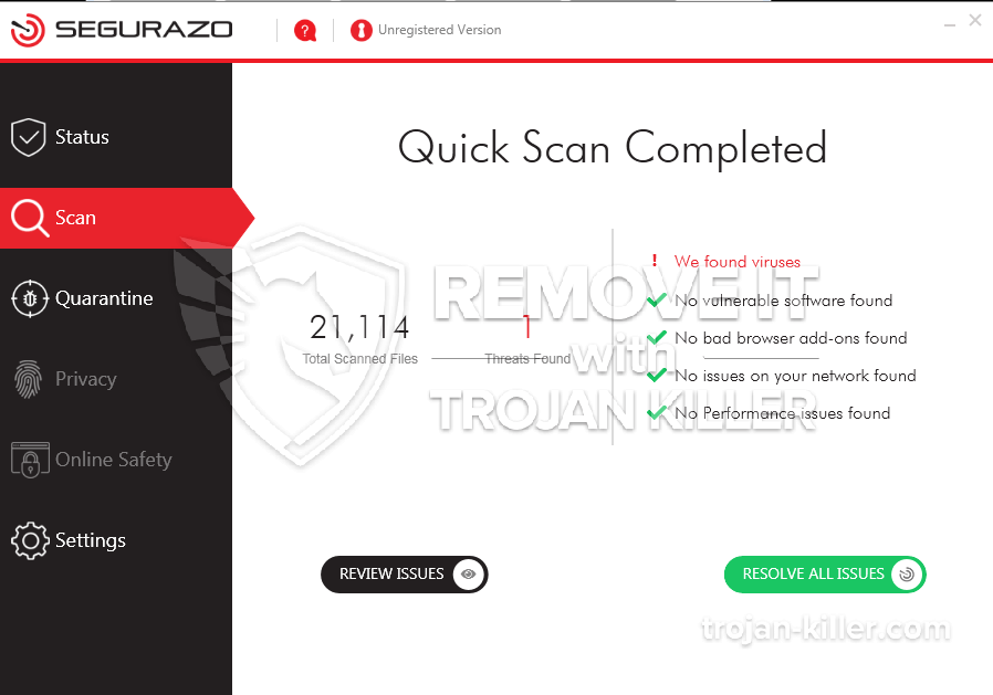 remove Segurazo