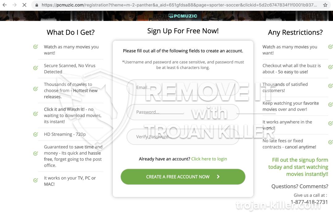 Pcmuzic.com virus