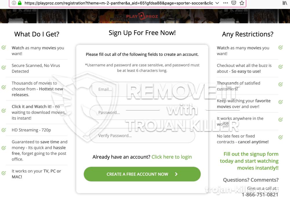 Playproz.com virus