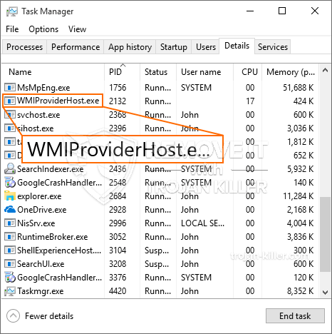 What is WMIProviderHost.exe?