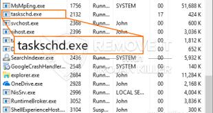 Fjern Taskschd.exe Miner Trojan