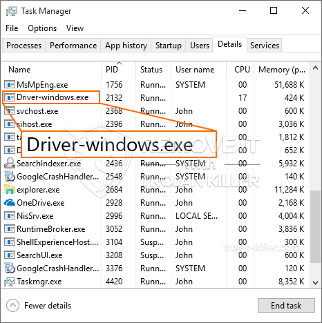 What is Driver-windows.exe?