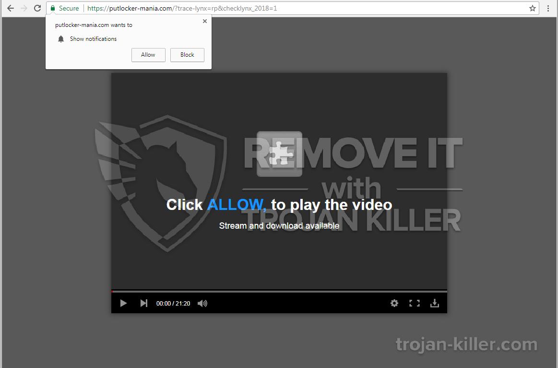 Putlocker-mania.com virus