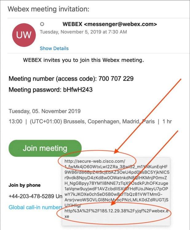 WebEx invitation