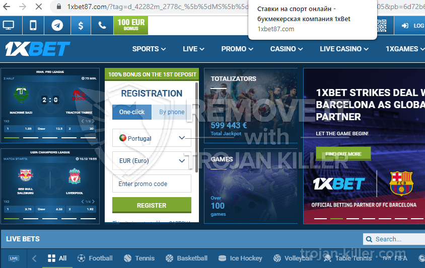 What is 1xbet87.com?