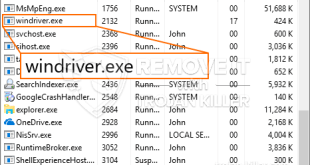 Windriver.exe – Virus Files Removal