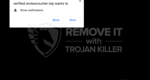 Remove Reviewcounter.top pop-up ads