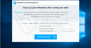 """Clean up your Windows after surfing the web!"" pop-up scam (elimination solution)."