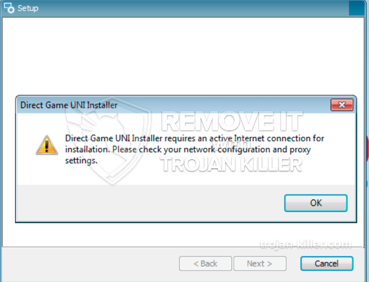 Direct Game UNI Installer virus