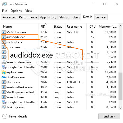 What is Audioddx.exe?