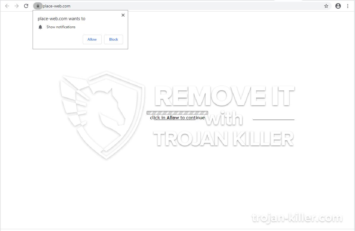 vírus Place-web.com