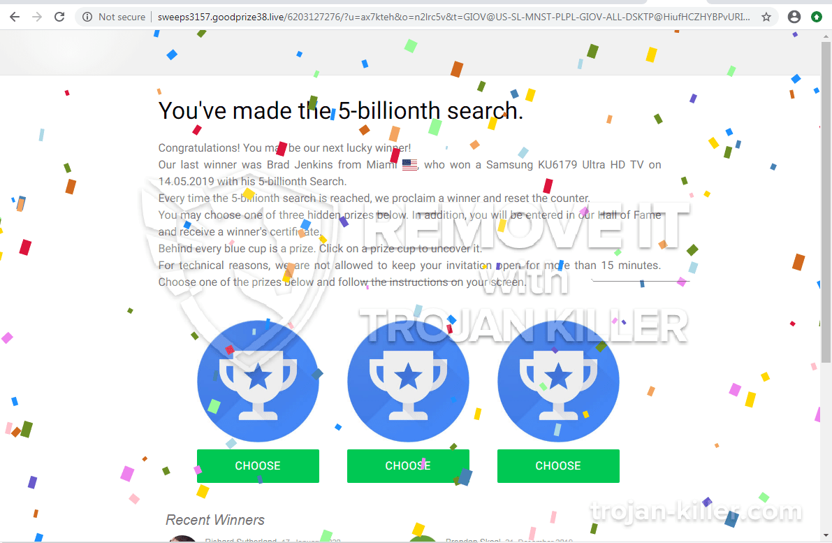 You've made the 5-billionth search virus
