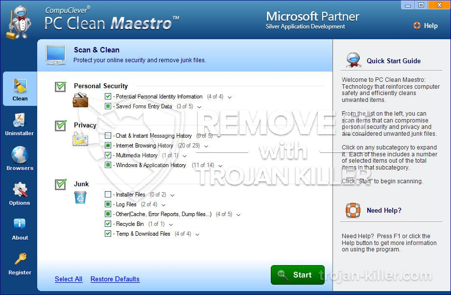 remove PC Clean Maestro