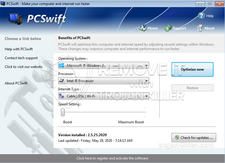 remove PCSwift