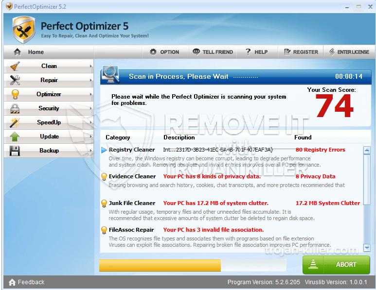 Entfernen Sie Perfect Optimizer