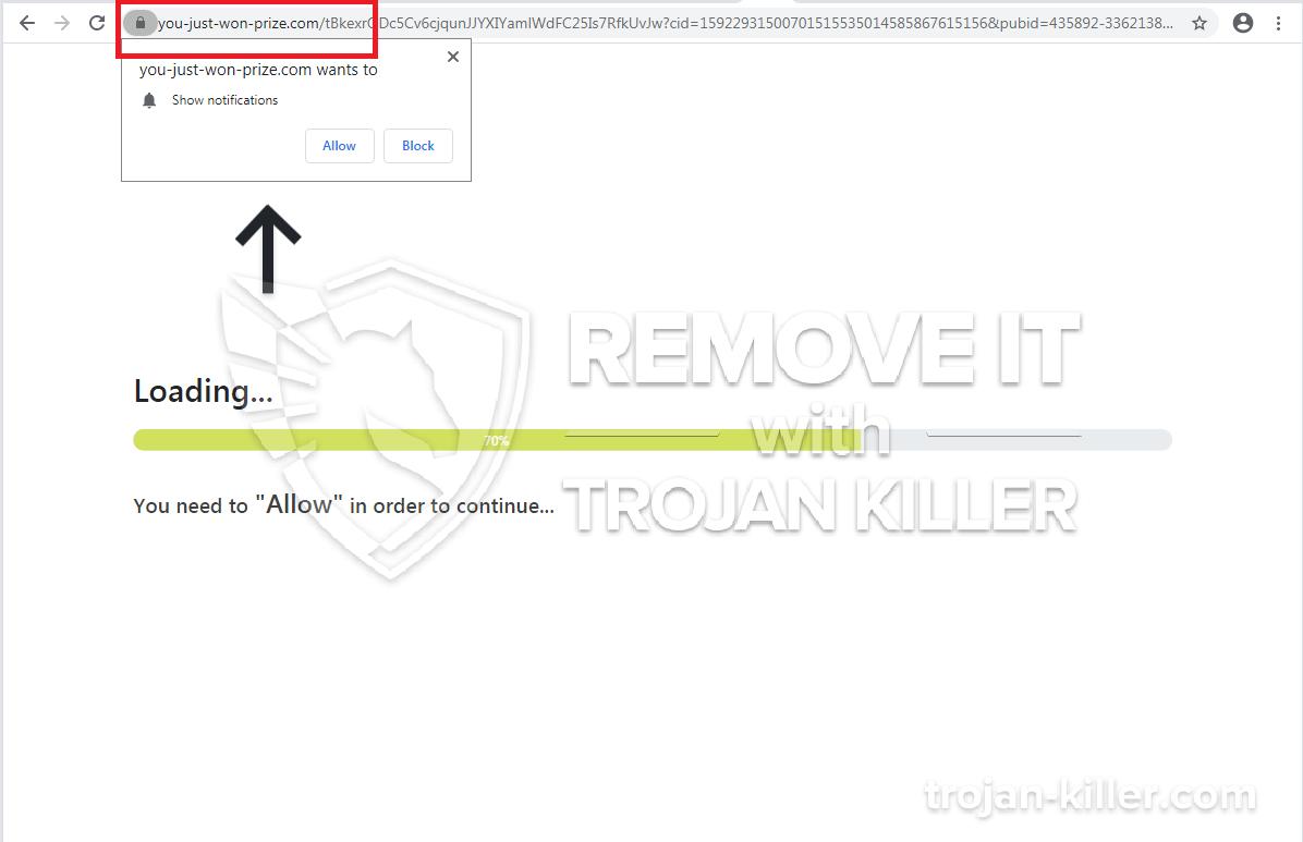 You-just-won-prize.com virus