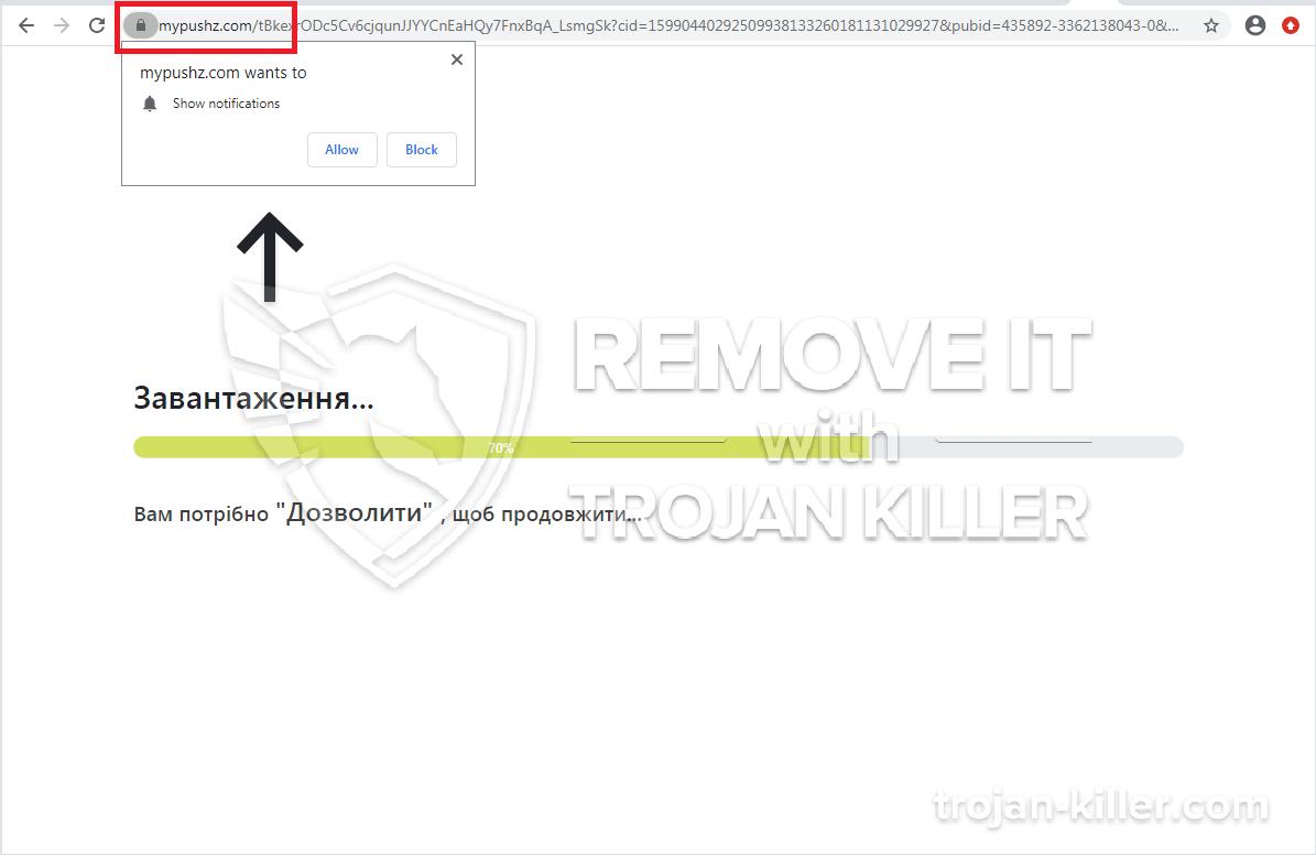 mypushz.com Virus