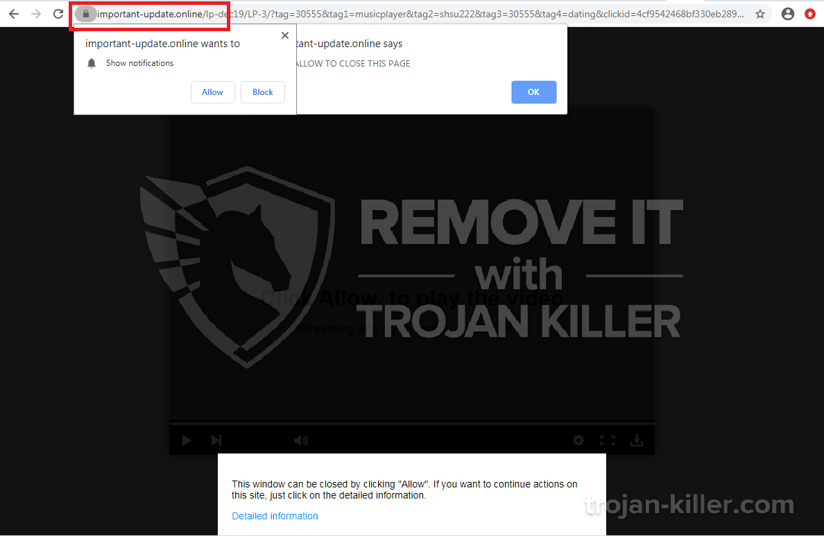 Important-update.online virus