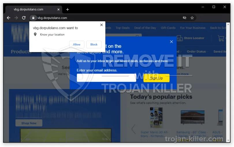 dorputolano.com virus