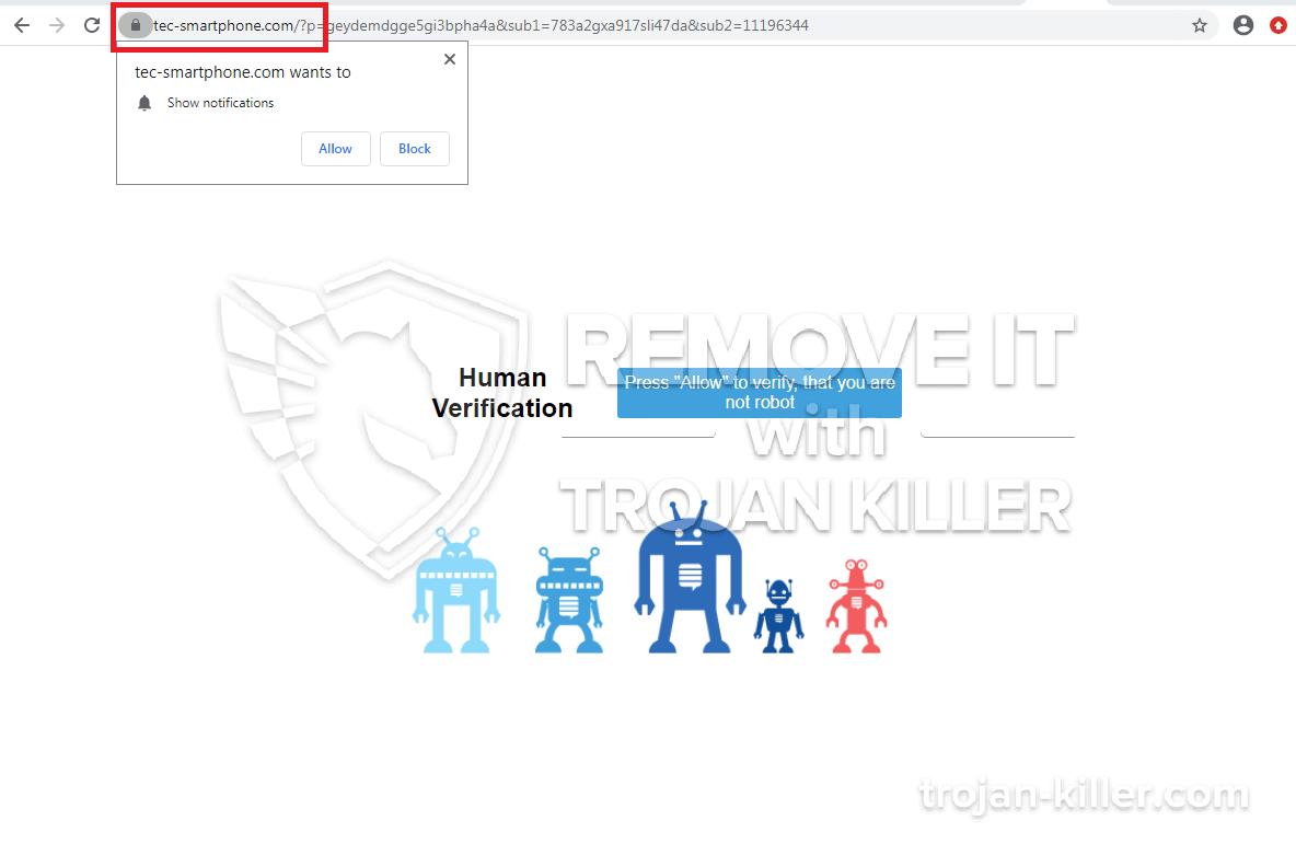 Tec-smartphone.com virus