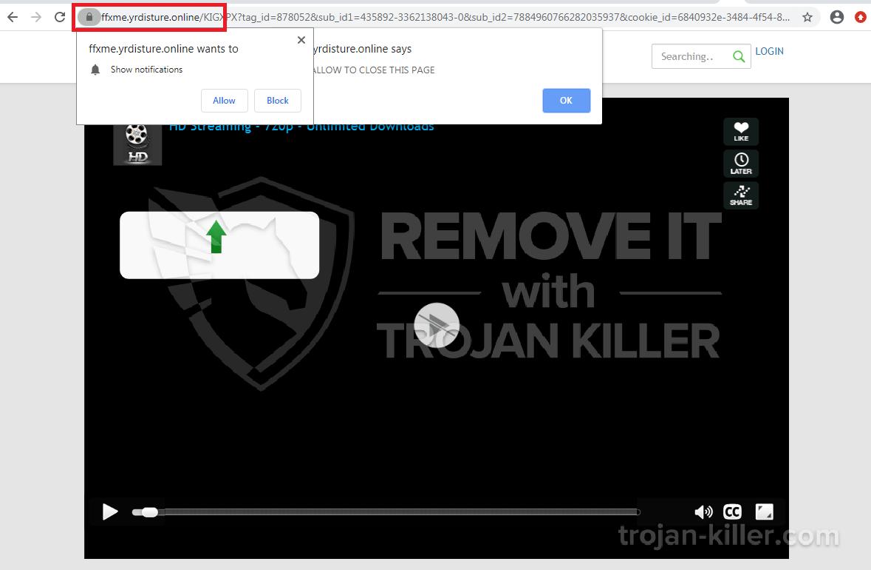 El virus Yrdisture.online