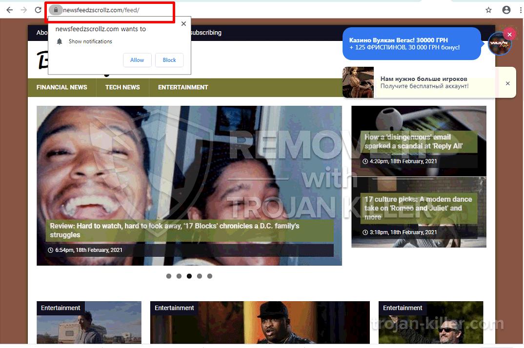 Virus Newsfeedzscrollz.com