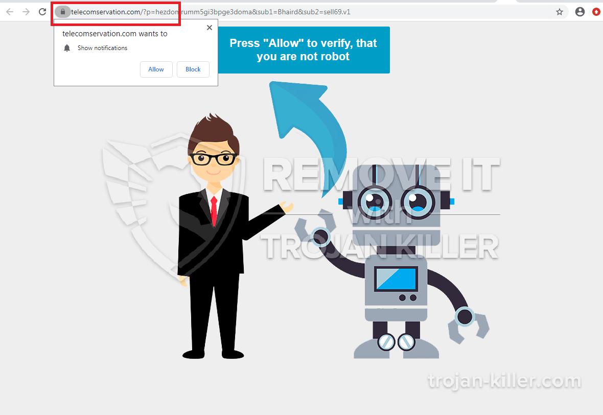 telecomservation.com Virus