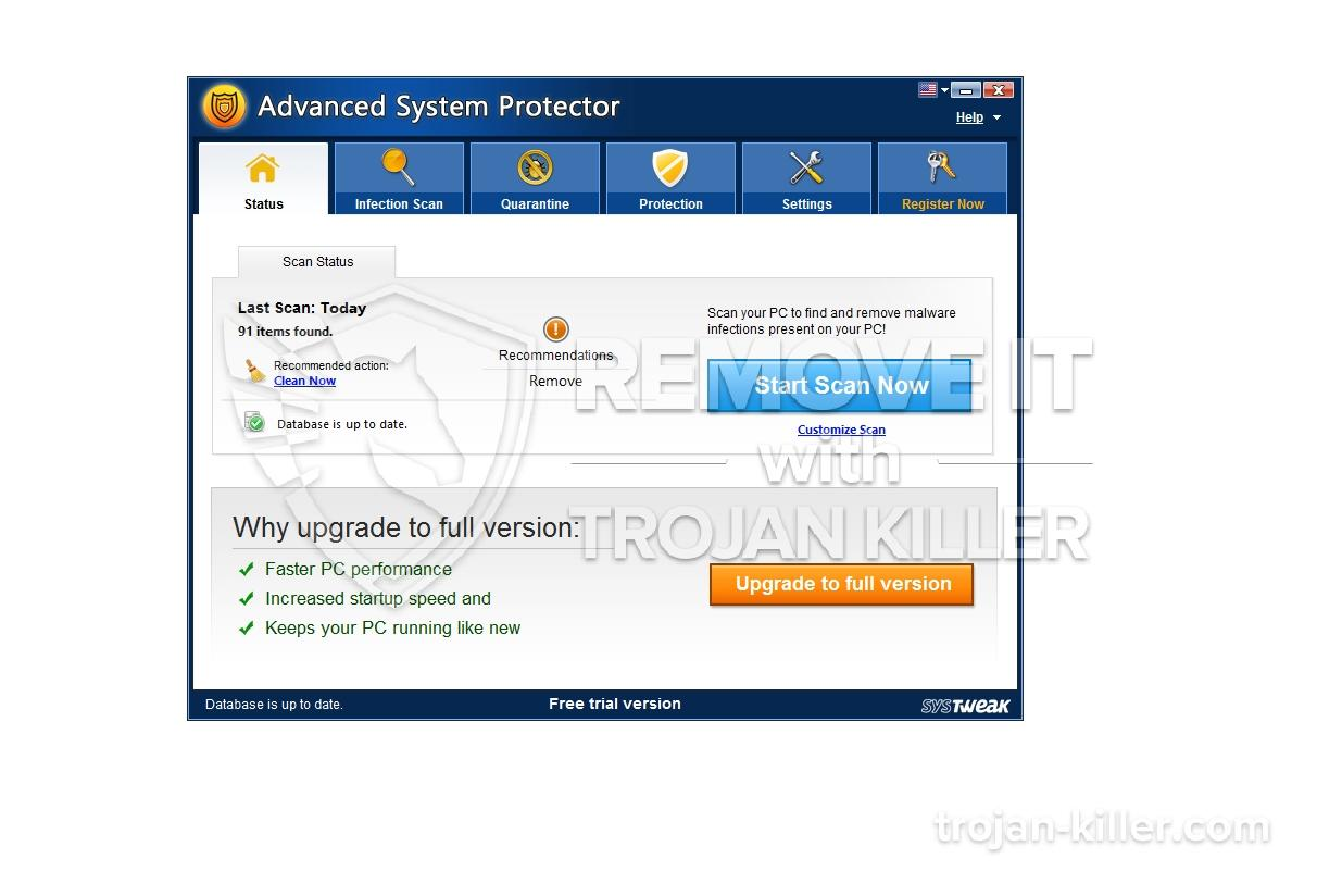 fjern Advanced System Protector