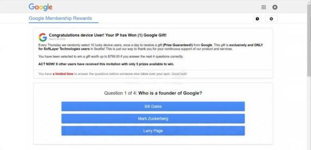 Belohnungsbetrug für die Google-Mitgliedschaft