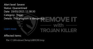 How to identify a Trojan:Win32/CoinMiner!MSR trojan?