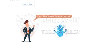 Sådan fjernes Verifyrobot.online Vis underretninger