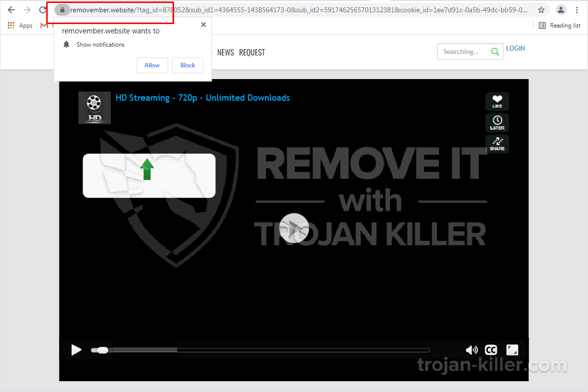 Removember.website virus