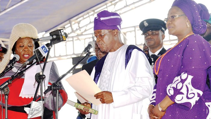 Oyetola takes office, promises prompt payment of salaries in Osun