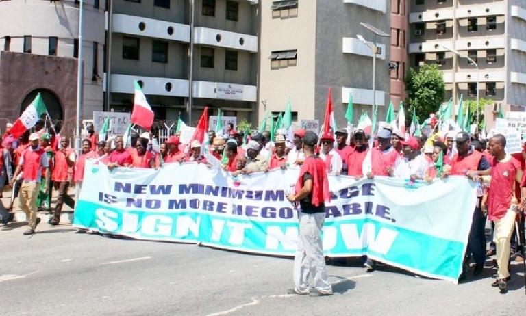 Minimum wage: NLC begins indefinite strike Jan. 8