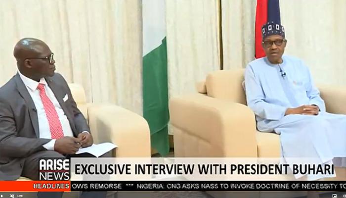 Buhari Shocks His Interviewers During Arise TV Interview