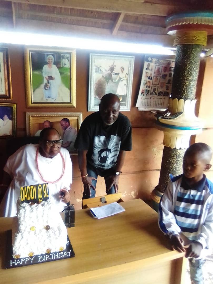 Dr. West-Idahosa Felicitates With Esogban Of Benin Kingdom At 92