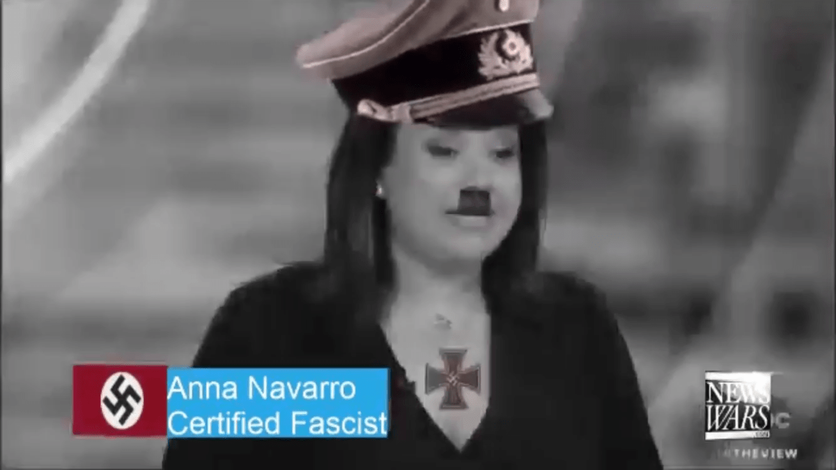 Ana Navarro is a certified fascist who supports censorship by Facebook and big tech autocrats.