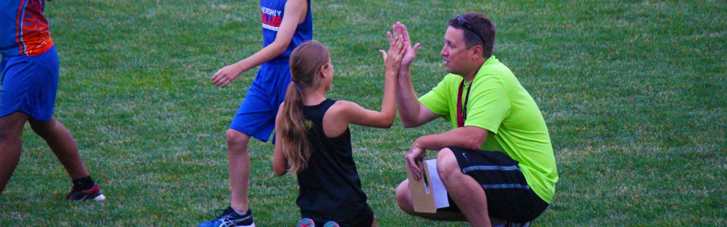 Coach Shawn high five
