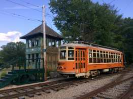 Eastern Mass 4387 and Tower C at Seashore Trolley Museum. Check them out at 2020 Annual Meeting