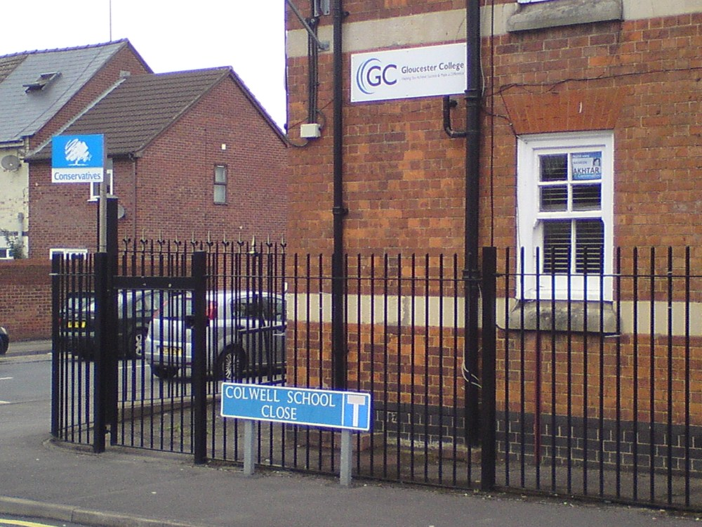 The Colwell Centre, and 'Gloucester College'.