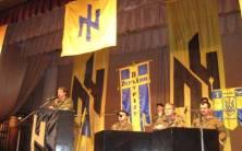 Andriy Biletsky puhujana, paikka Patriot Ukrainen kokous vuonna 2008.