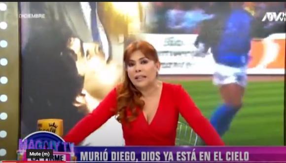 Magaly recuerda excesos de Maradona