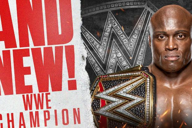 Bobby Lashley is the WWE Champion!  (WWE)