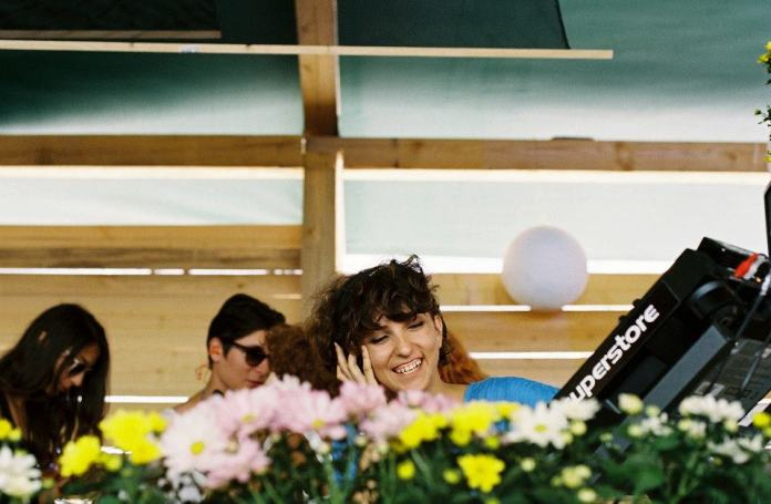 Alexandra DJing at Sunwaves 12