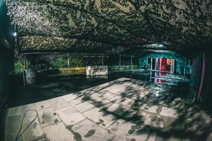Mint Warehouse's empty terrace