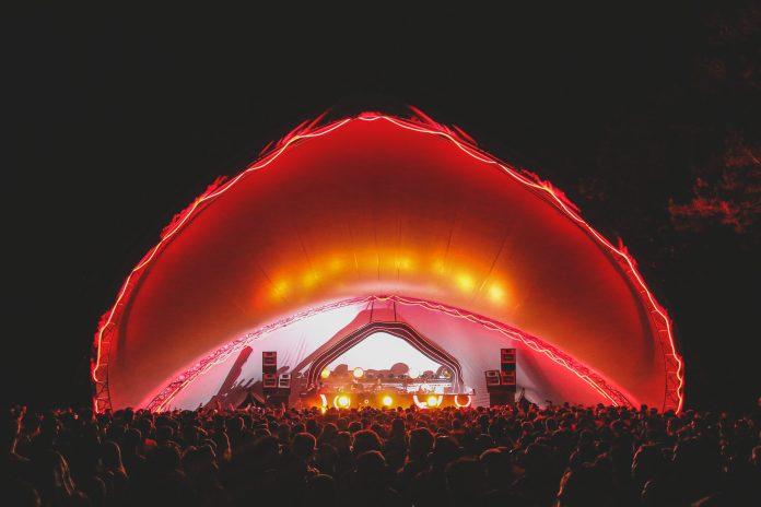 Hide & Seek main stage at night