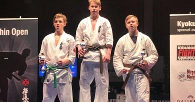 Gull, sølv og bronse på Kyokushin Open
